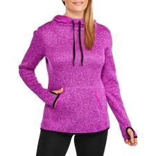 Hoodie With Thumb Holes Womens Danskin Now Women U0027s Active Textured Cowlneck Pullover Hoodie With