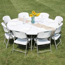 48 inch round folding table lancaster table seating 72 round heavy duty white granite plastic