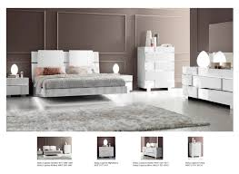 White And Mirrored Bedroom Furniture Status Caprice Bedroom Set White Bed Nightstand Dresser And
