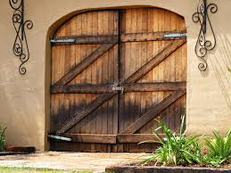 Wood Barn Doors by Large Wooden Barn Doors U2014 Stock Photo Cd123 7141124