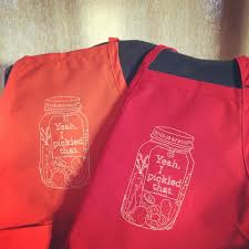 Aprons Printed Screen Printed Pickle Aprons