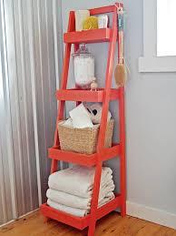 bathroom design orange wooden organizer bathroom design orange wooden organizer ladder shape girl applying get interior budget ideas
