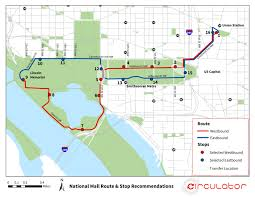 Washington Dc National Mall Map by Dc Circulator National Mall Route Plan U2022 Foursquare Itp