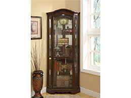 Cherry Wood Curio Cabinet Living Room Cabinets Coaster Corner Curio Cabinet Cherry Wood