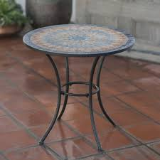 Mosaic Bistro Table Set Home Decor Cozy Mosaic Patio Table Combine With Belham Living