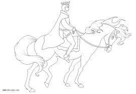 prince horseback vector coloring
