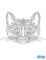 un magnifique coloriage mandala chat original et gratuit de quoi