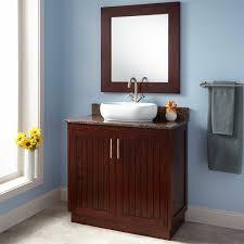 Small Depth Bathroom Vanities Bathroom Brown Polished Wooden Narrow Depth Bathroom Vanity With