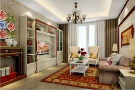 Chinese Living Room Chinese Living Room Interior Decoration For Spring Festival 3d House