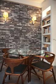 mur deco pierre déco salle à manger avec mur brique 50 idées originales mur