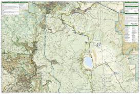 Arizona Topographic Map by Flagstaff Sedona Coconino National Forest Trails Illustrated Map