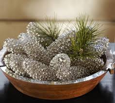 36 brilliant diy decoration ideas with pinecones mercury glass
