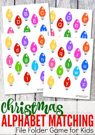 themed letters printable christmas alphabet matching file folder from abcs