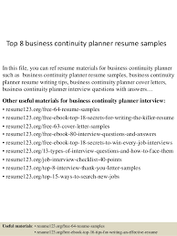 Business Resume Examples Top 8 Business Continuity Planner Resume Samples 1 638 Jpg Cb U003d1433342041