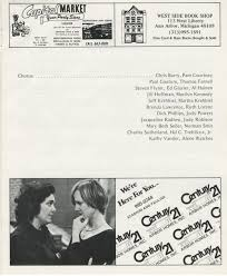ann arbor civic theatre program carousel april 19 1978 ann