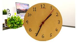 Wall Clock How To Make 1 Wall Clock Or Table Clock From Cardboard Mrexpert