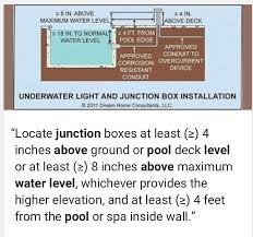 pool junction box electrician talk professional electrical