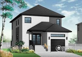house plans for narrow lots with garage house plan w3877 detail from drummondhouseplans