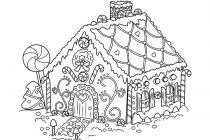 gingerbread house coloring page perfect gingerbread house coloring