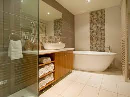 Modern Bathroom Colour Schemes - bathroom color ideas for small bathrooms with mosaic pattern