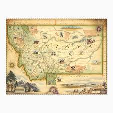 State Map Of Montana by For The Lover Of Montana U2013 Heyday Bozeman