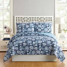 Vera Bradley Twin Comforter Nomadic Floral Blue Bedding Quilts Shams Decorative Pillows