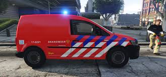 volkswagen fire volkswagen caddy dutch fire brigade nederlandse brandweer 4k