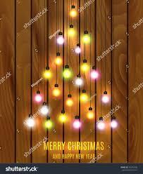 christmas bulb lights arranged christmas tree stock vector