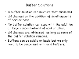 describe what is meant by a buffer solution ppt