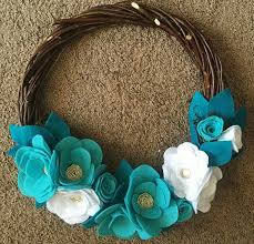 the 25 best turquoise wreath ideas on burlap cross