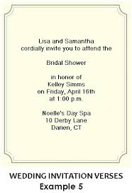 couples wedding shower invitation wording bridal shower invitation wording exles