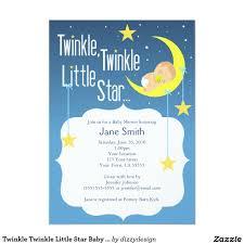 twinkle twinkle little star baby shower invite star baby showers
