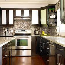 backsplashes kitchen backsplash mosaic cherry cabinets with