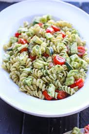 Simple Main Dish - pesto pasta salad two sisters kitchens