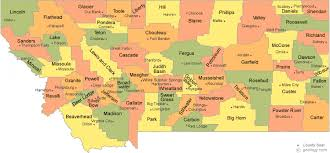 map of counties in montana montana map