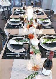 modern table settings thanksgiving table setting ideas place of my taste