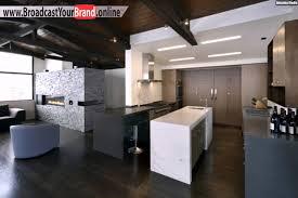 küche offen wohnzimmer wohnideen offen küche grau weiß holzboden