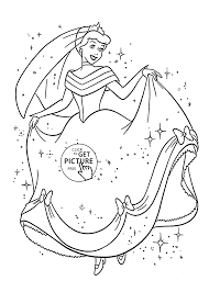 beautiful cinderella is happy coloring page for kids disney