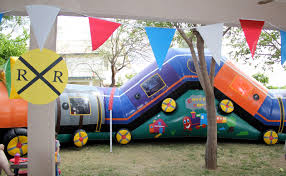 train party homemade decorations
