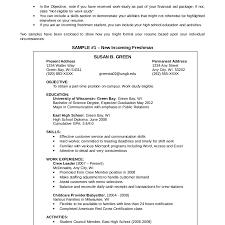 resume for college application objectives objectives in resume for fresh graduates teachersve exles high