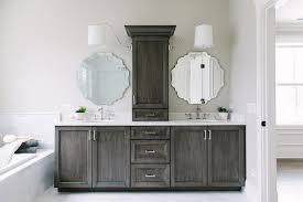 Dark Gray Bathroom Vanity Dark Brown Wash Bath Vanity Cabinets Transitional Bathroom