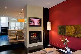 new ideas red wall living room red walls and green potted design
