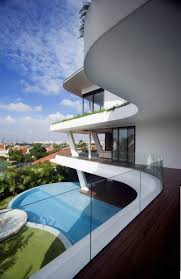 second floor of magnificent and ultra modern house half surrounded