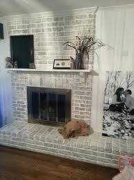 paint brick fireplace whitewash how to paint a brick fireplace