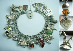 s day charm bracelet italy germany scotland european travel vintage silver