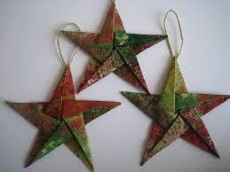 fabric origami tree ornaments dmiranda dma