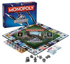 amazon com monopoly jurassic world edition board game toys