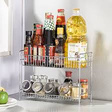 Stainless Steel Wall Spice Rack Esy Life Stainless Steel 2 Tier Spice Rack Spice Shelf Kitchen