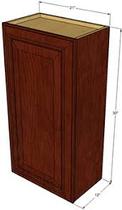 Brandywine Single Door Wall RTA Cabinets RTA Cabinet Store - Single kitchen cabinet