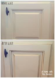 Glazed Kitchen Cabinet Doors How To Glaze Cabinets At Home With The Barkers